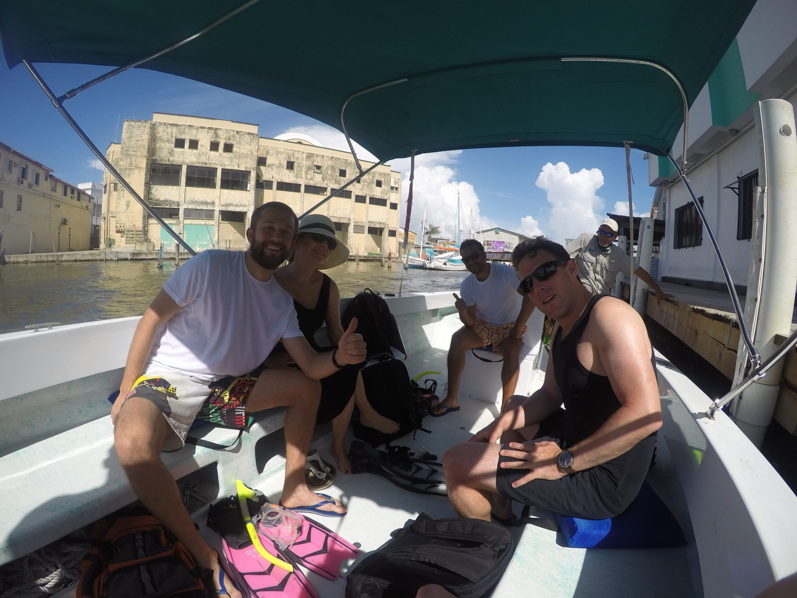 Belize Crew on a Boat